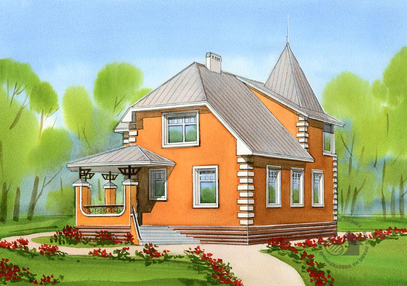 частный дом рисунок работы объекте